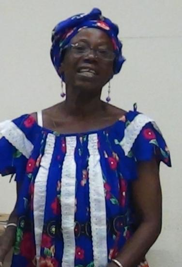 Djenéba Tessougué à Quéven, octobre 2012