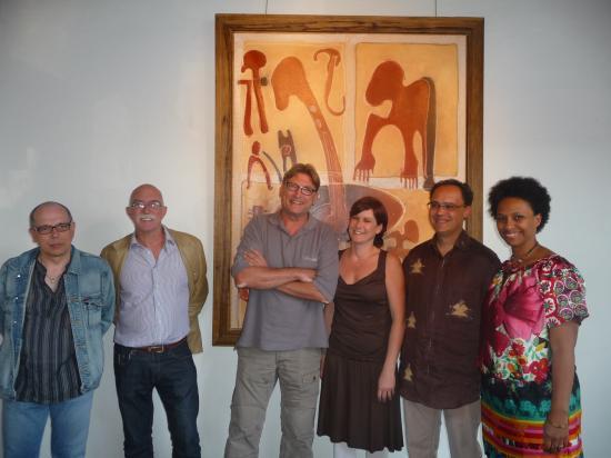 Afriq'Koro 2011 - vernissage de l'expo Stenka, les Arcs