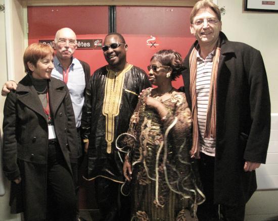 aux Arcs avec Amadou et Mariam